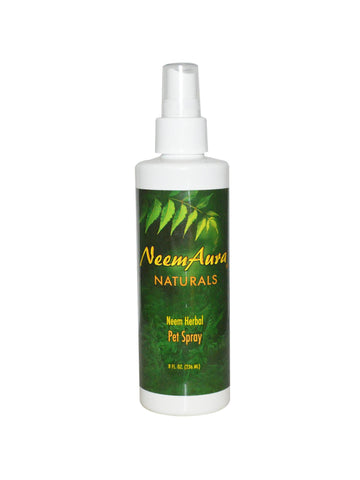 Neem Pet Spray, 8 oz, Neem Aura