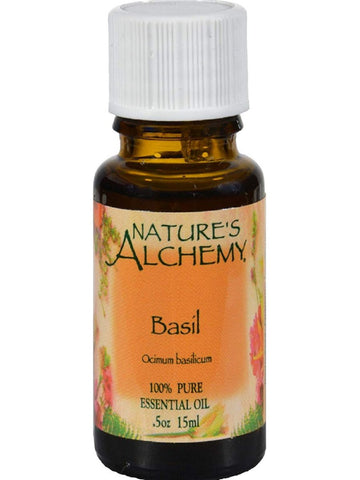 Nature's Alchemy, Basil Essential Oil, 0.5 oz