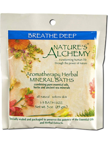 Nature's Alchemy, Breathe Deep Aromatherapy Mineral Bath, 3 oz