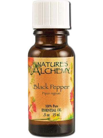 Nature's Alchemy, Black Pepper Essential Oil, 0.5 oz