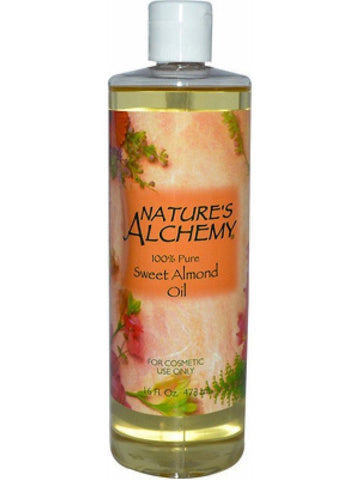 Nature's Alchemy, Sweet Almond Carrier Oil, 16 oz