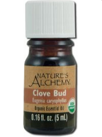 Nature's Alchemy, Clove Bud Organic Essential Oil, 5 ml