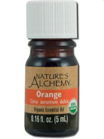 Nature's Alchemy, Orange Organic Essential Oil, 5 ml