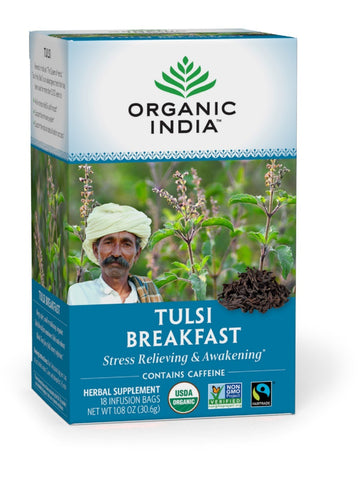 Tulsi India Breakfast Tea, 18 ct, Organic India