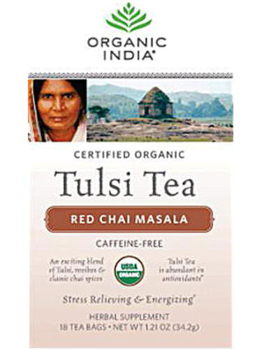 Tulsi Red Chai Masala Tea (Caffeine Free), 18 ct, Organic India