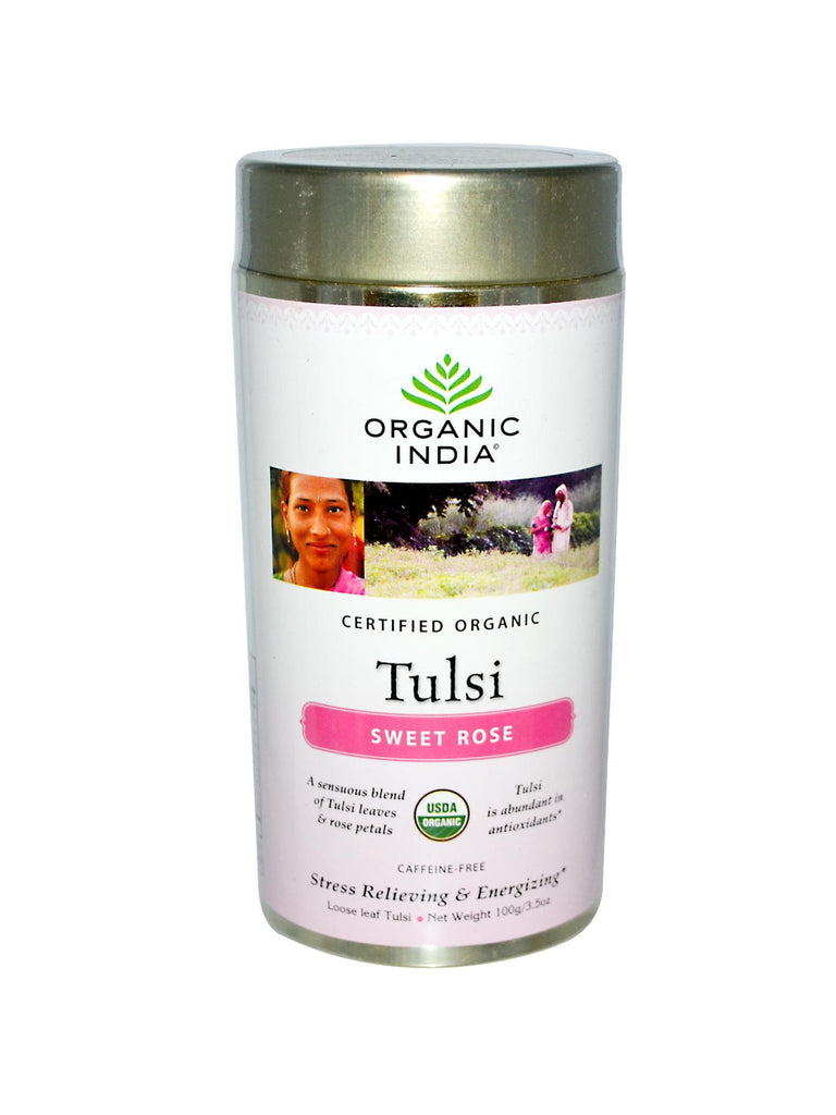 Tulsi Sweet Rose Tea, Loose Leaf, 100 gm, Organic India