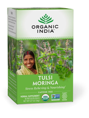 Tulsi Tea Moringa, 18 bag, Organic India