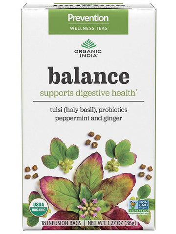 Organic India, Prevention Balance Tea for Digestive Health, 18 ct bag
