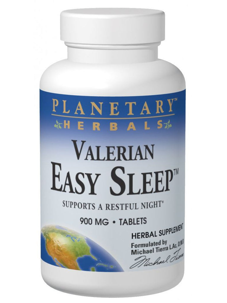 Planetary Herbals, Valerian Easy Sleep, 120 ct