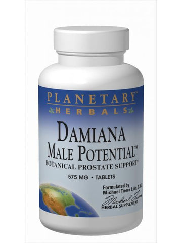 Planetary Herbals, Damiana Male Potential, 180 ct