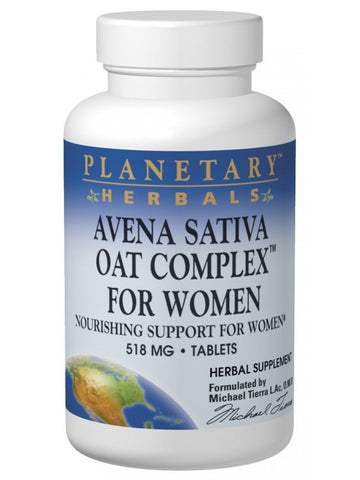 Planetary Herbals, Avena Sativa Oat Complex for Women, 200 ct