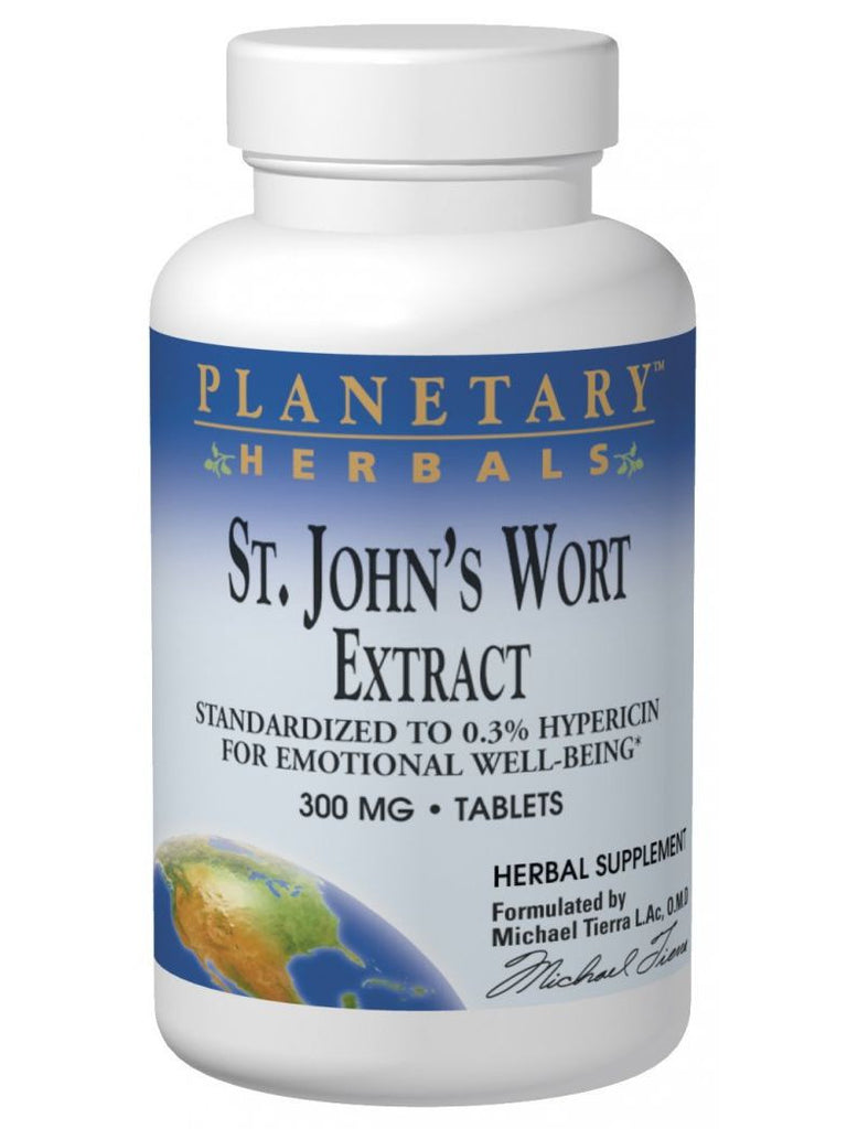 St. John's Wort Ext 300mg Std 0.3% Hypericin, 180 ct, Planetary Herbals