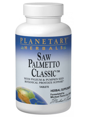 Planetary Herbals, Saw Palmetto Classic, 180 ct