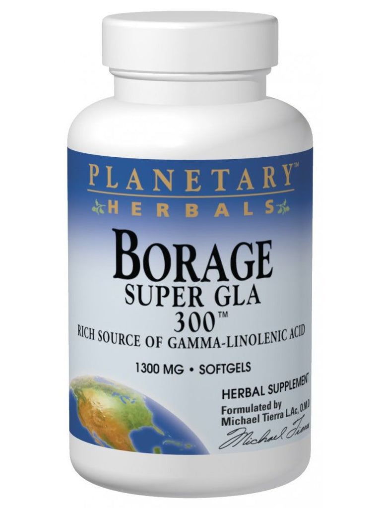 Planetary Herbals, Borage Super GLA 300 1300mg, 30 softgels
