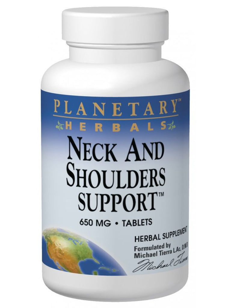 Planetary Herbals, Neck and Shoulders Support, 120 ct