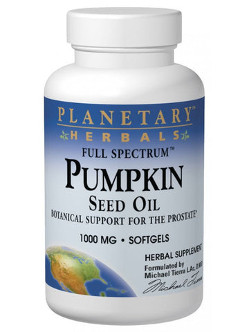 Planetary Herbals, Pumpkin Seed Oil 1000mg Full Spectrum, 90 softgels