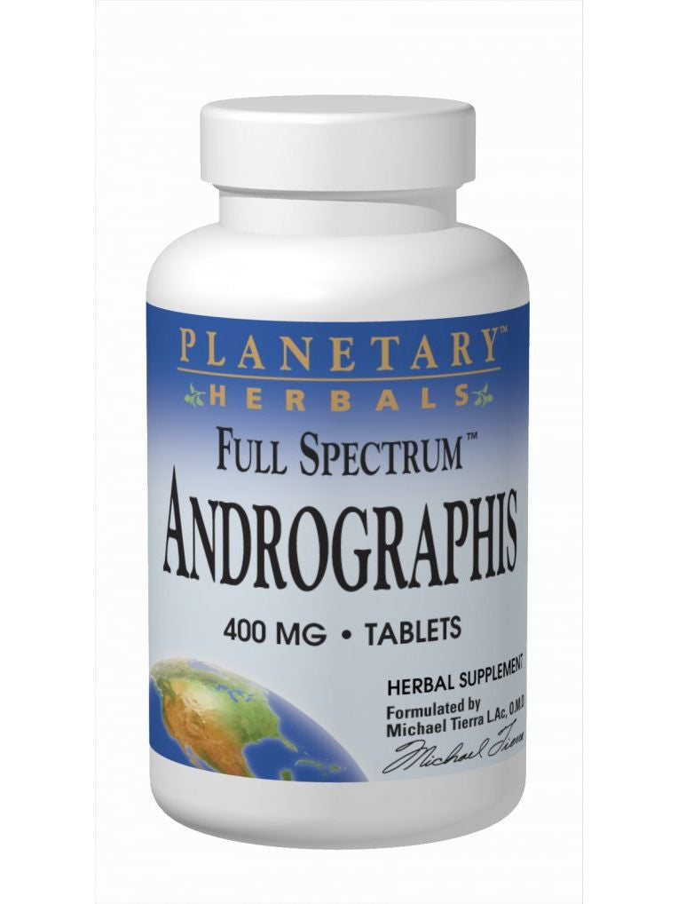 Planetary Herbals, Andrographis 400mg Full Spectrum Std 10% Andrographolides, 60 ct