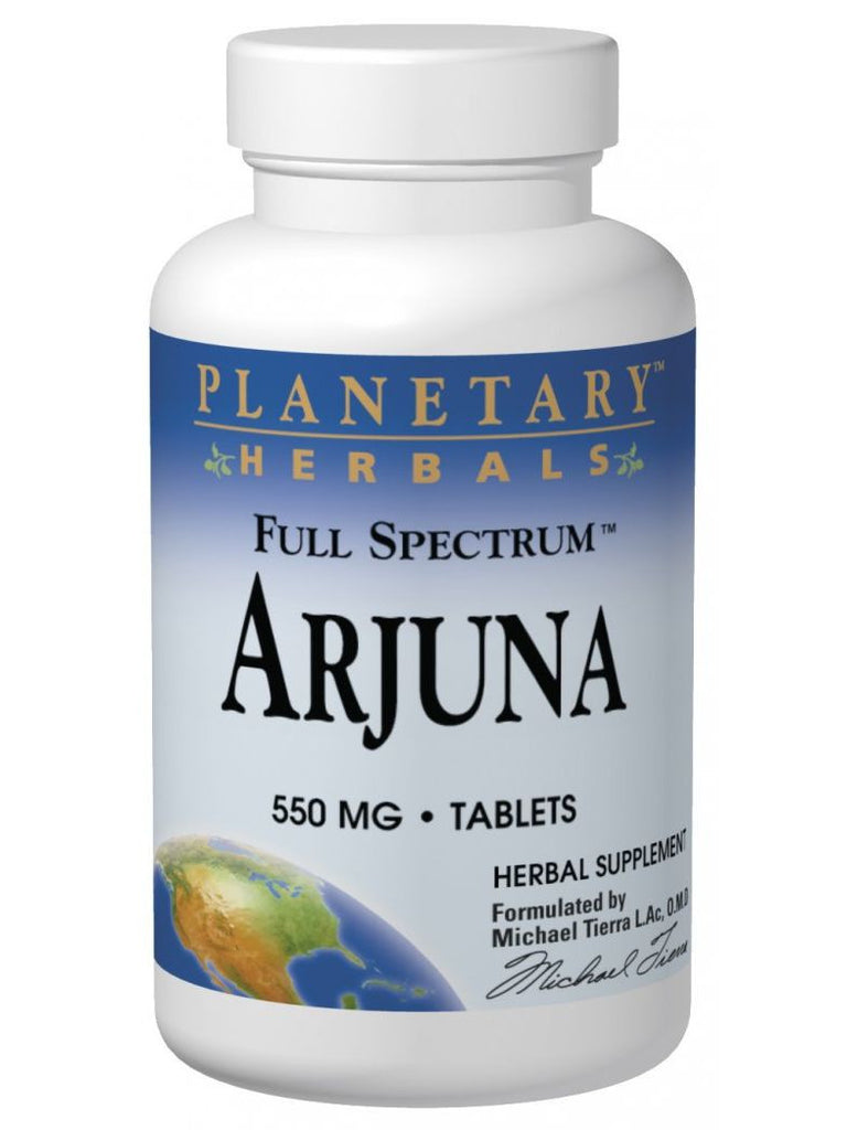 Planetary Herbals, Arjuna 550mg Full Spectrum, 120 ct