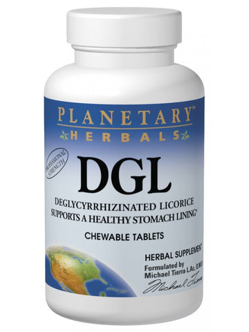 Planetary Herbals, Licorice DGL Deglycyrrhizinated Chewable, 100 ct