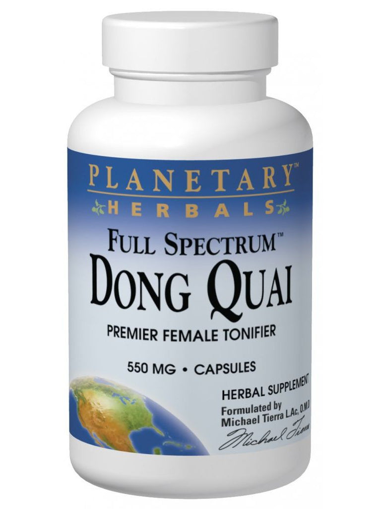 Planetary Herbals, Dong Quai Full Spectrum 550mg, 120 ct