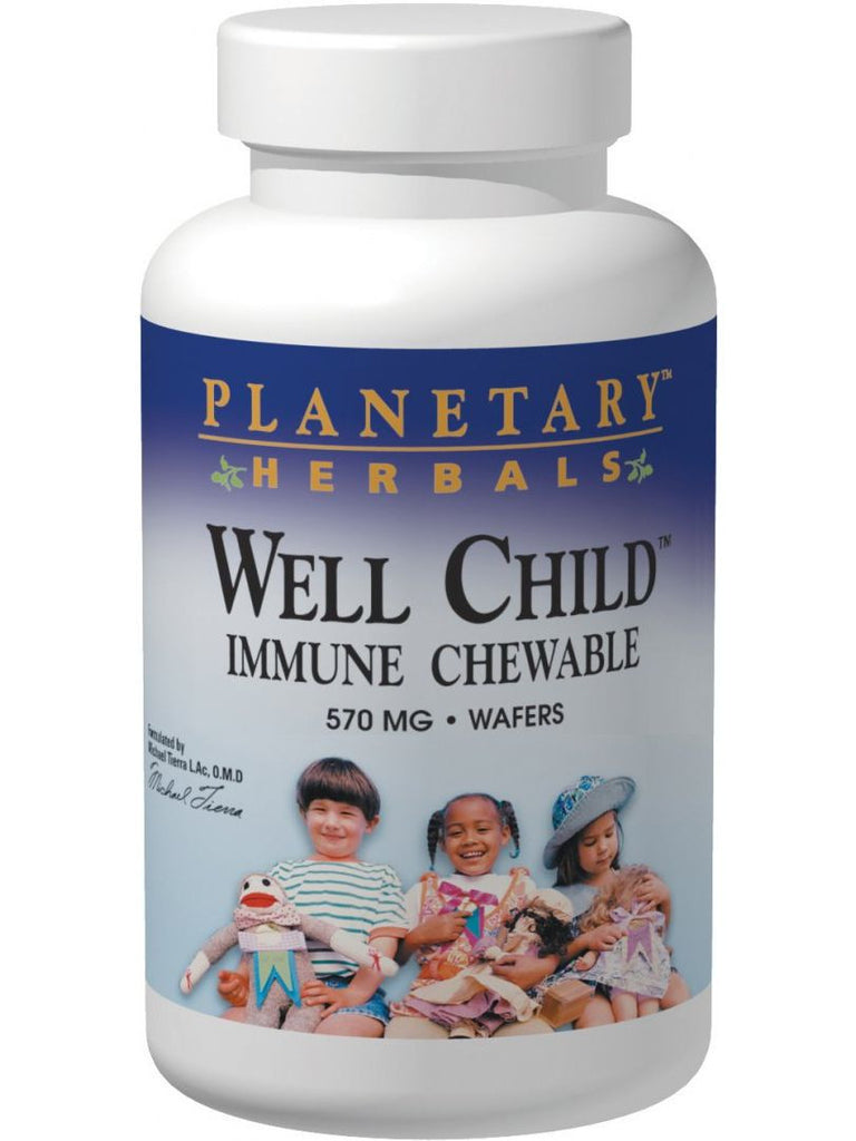 Planetary Herbals, Well Child Immune Chewable, 120 wafers