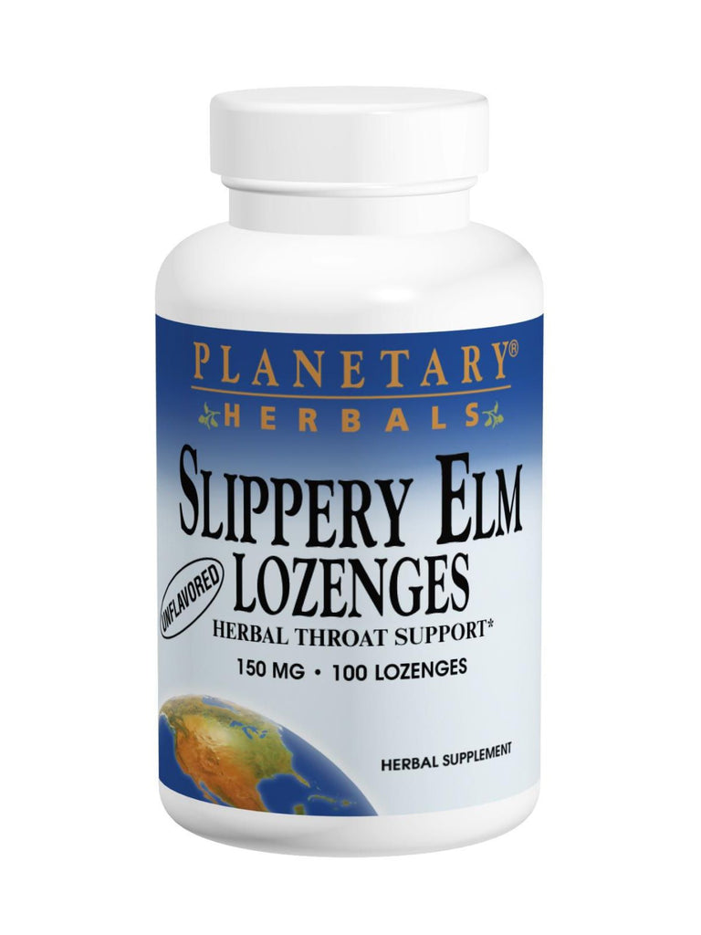 Planetary Herbals, Slippery Elm Lozenges Strawberry Flavor, 200 lozenges