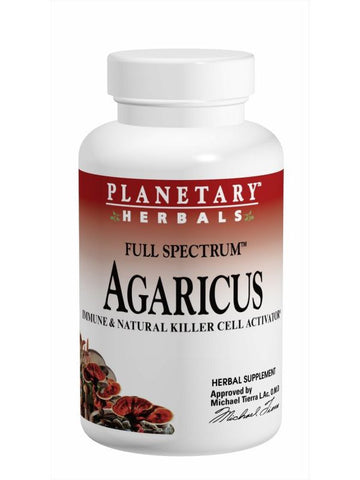 Planetary Herbals, Agaricus Extract Full Spectrum 500mg, 60 ct