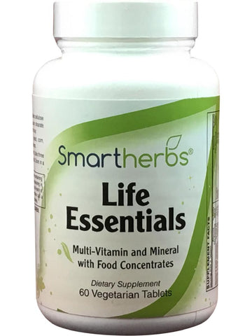 Smart Herbs, Life Essentials, 60 vegetarian tabs