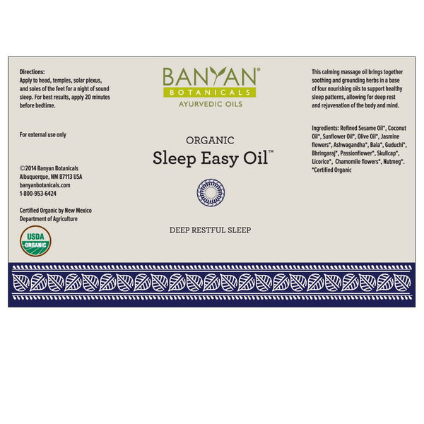 Banyan Botanicals, Sleep Easy Oil, 4 fl. oz