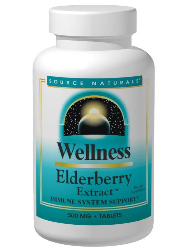 Source Naturals, Wellness Elderberry Extract, 500mg, 120 ct