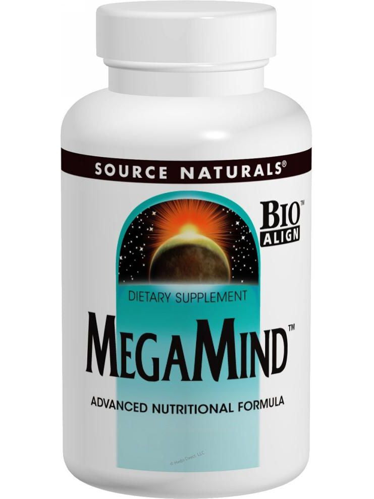 Source Naturals, MegaMind Bio-Aligned, 120 ct