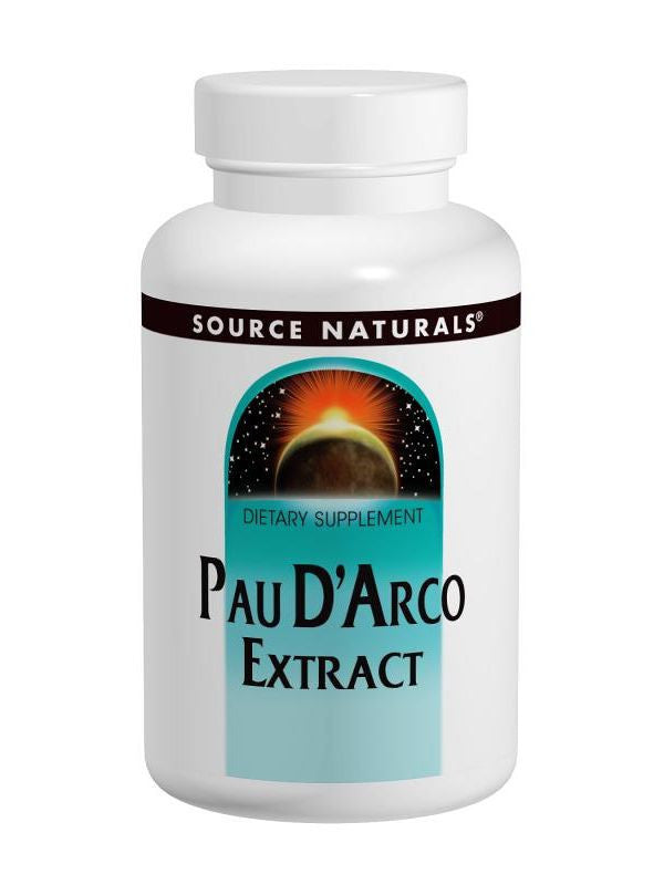 Pau D'Arco Extract, 500mg, 100 ct, Source Naturals