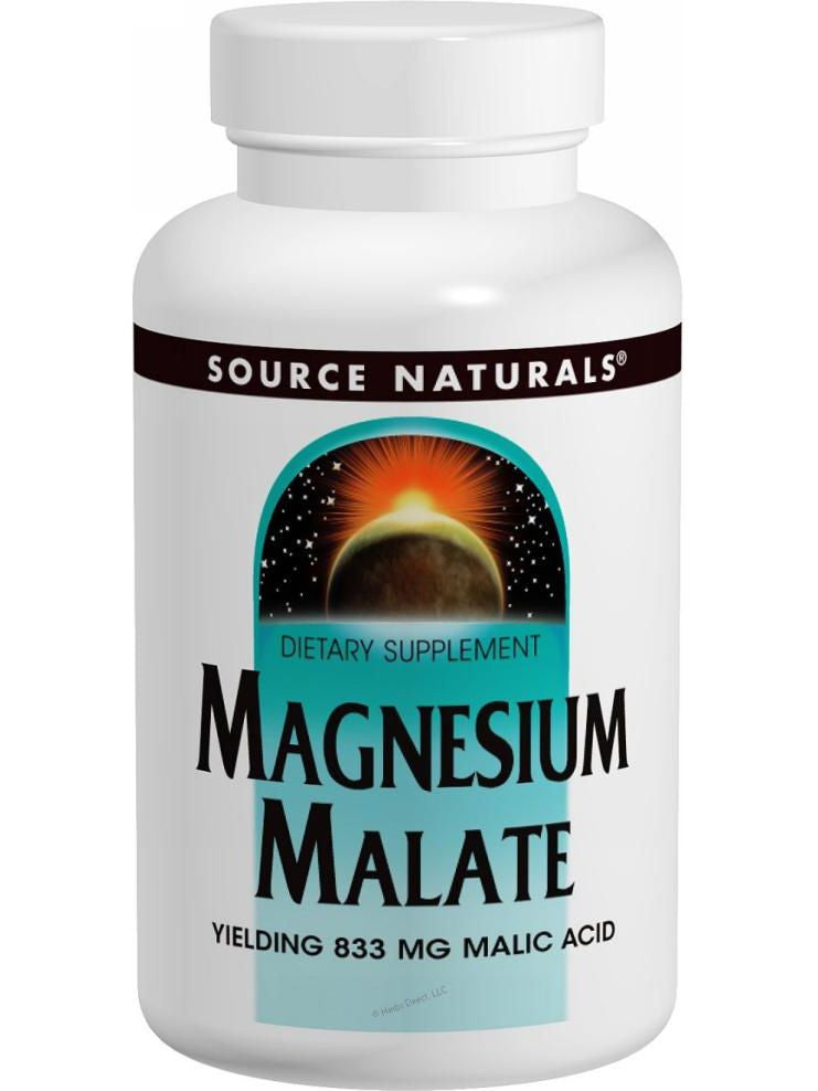 Source Naturals, Magnesium Malate, 1250mg, 90 ct
