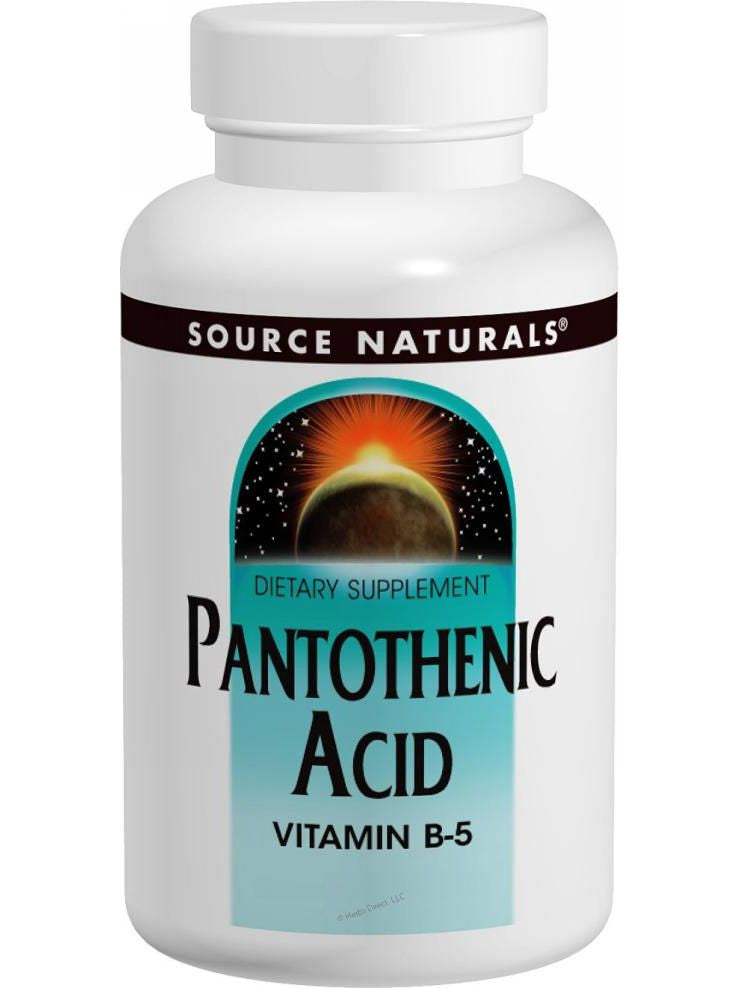 Source Naturals, Pantothenic Acid Vitamin B-5, 500mg, 200 ct