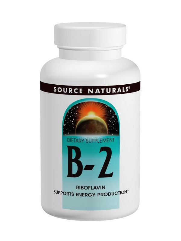 Source Naturals, Vitamin B-2 Riboflavin, 100mg, 100 ct