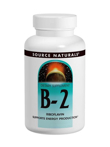 Source Naturals, Vitamin B-2 Riboflavin, 100mg, 250 ct