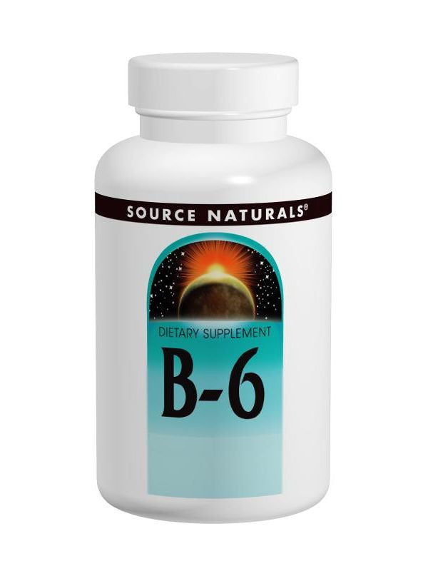 Source Naturals, Vitamin B-6 Pyridoxine, 50mg, 100 ct
