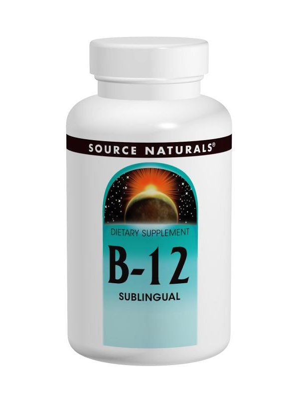 Source Naturals, Vitamin B-12 Sublingual 2000mcg, 100 ct