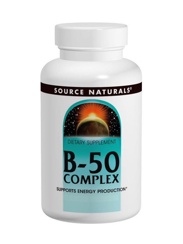 Source Naturals, Vitamin B-50 Complex Yeast Free, 50mg, 100 ct