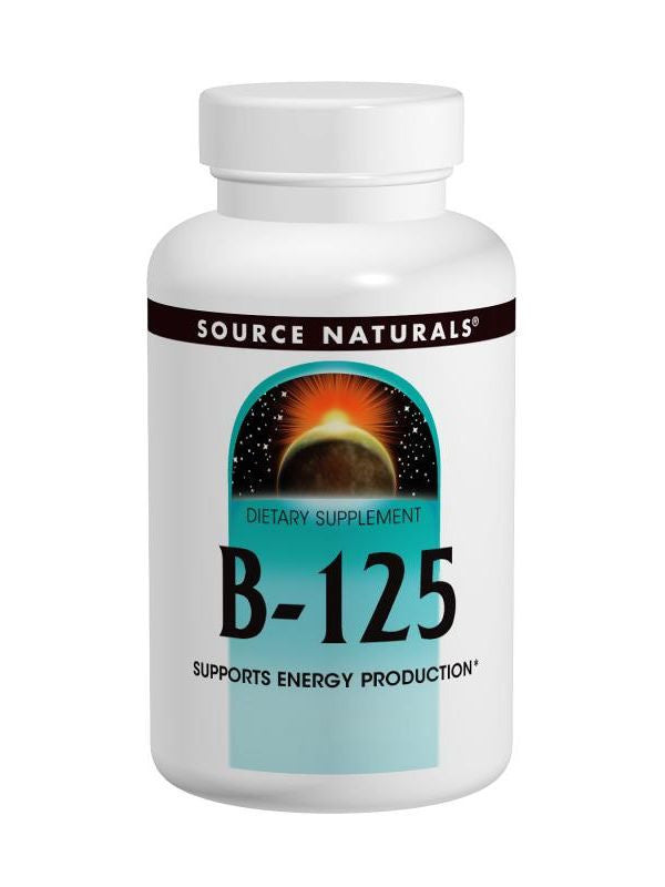 Source Naturals, Vitamin B-125 Complex Yeast Free, 125mg, 90 ct