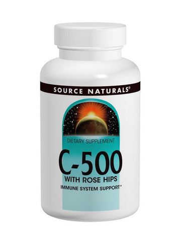 Source Naturals, Vitamin C-500 w/Rosehips, 500mg, 100 ct