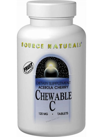 Source Naturals, Acerola Cherry Chewable C, 120mg, 100 ct