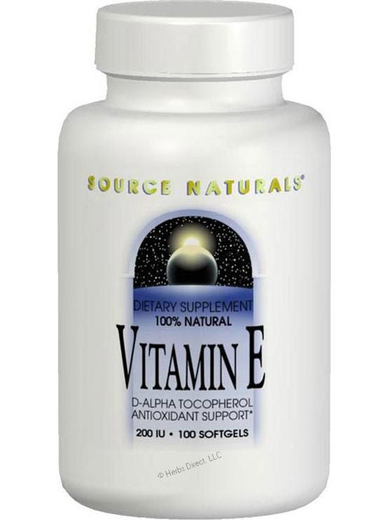 Source Naturals, Vitamin E d-alpha Tocopherol 400 IU, 100 softgels