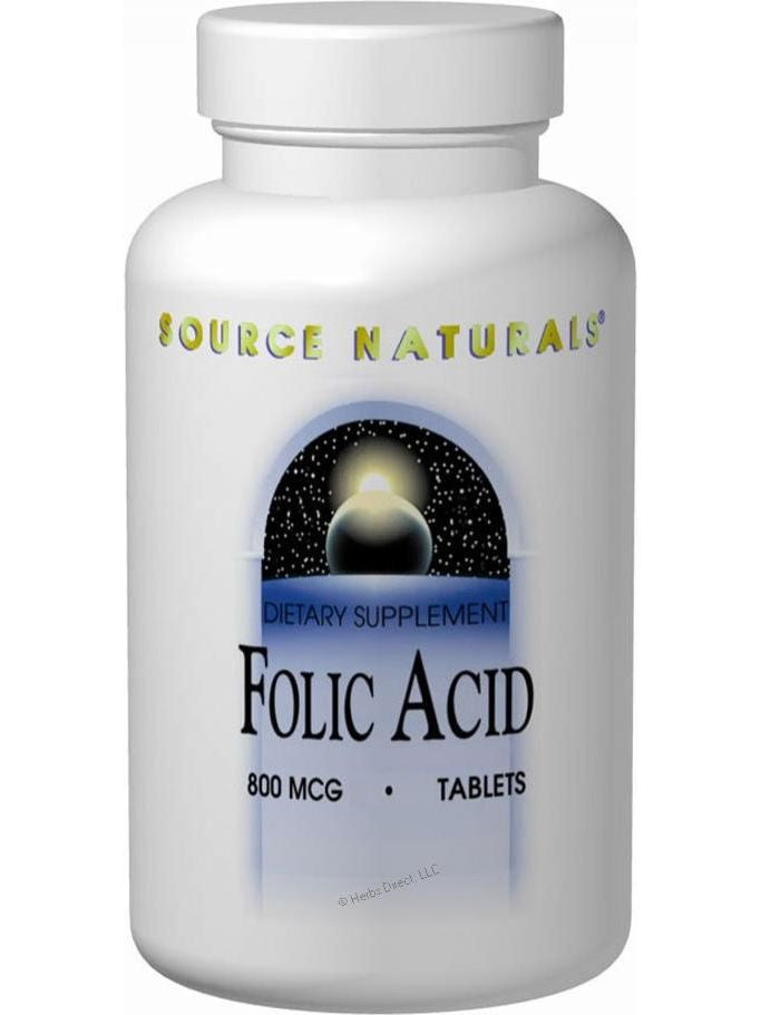 Source Naturals, Folic Acid 800mcg, 500 ct