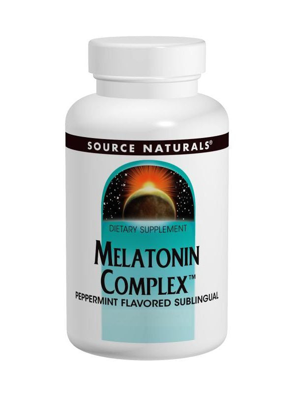 Source Naturals, Melatonin Complex Sublingual Orange, 50 ct