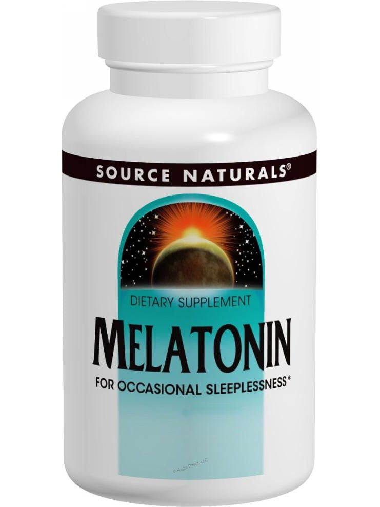 Source Naturals, Melatonin, 1mg Sublingual Peppermint, 100 ct