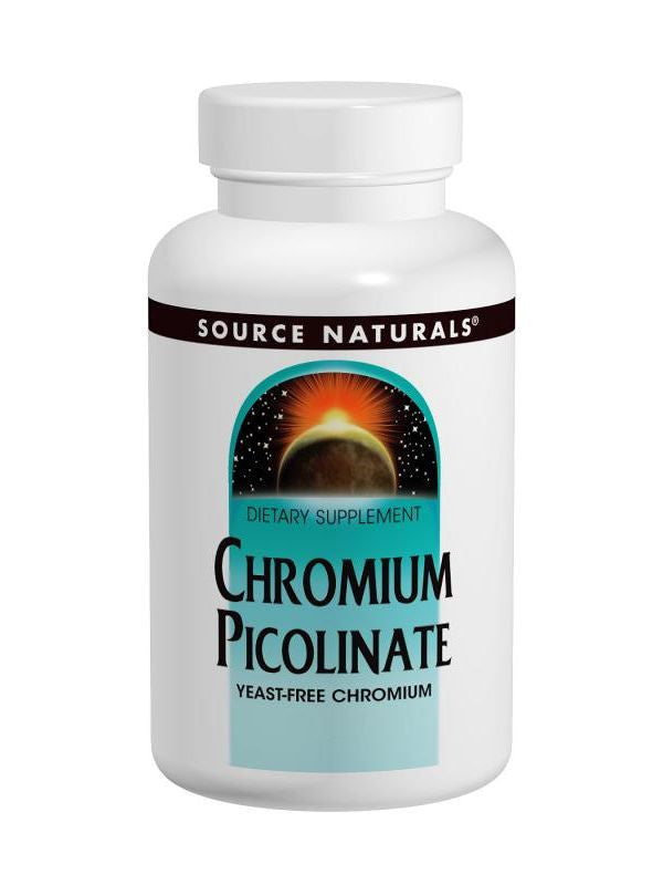 Source Naturals, Chromium Picolinate Yeast Free 200mcg, 120 ct