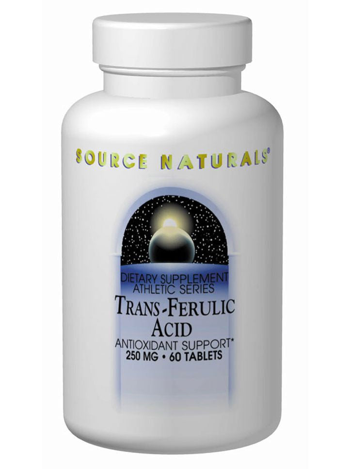 Source Naturals, Trans-Ferulic Acid, 250mg, 60 ct