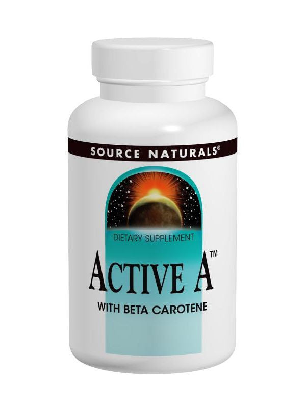Source Naturals, Active A w/Beta Carotene 25 000 IU, 60 ct