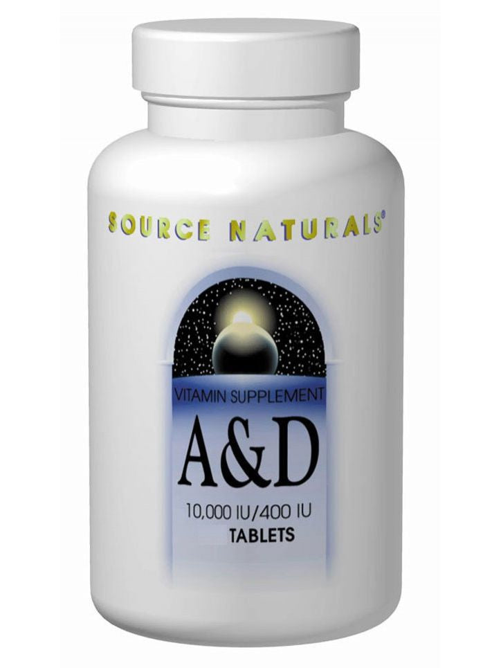 Source Naturals, Vitamin A & D 10 000 IU/400 IU, 250 ct